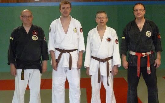 Thomas et Pascal au centre avec Dominique Bernard et Stéphane Bellemain.