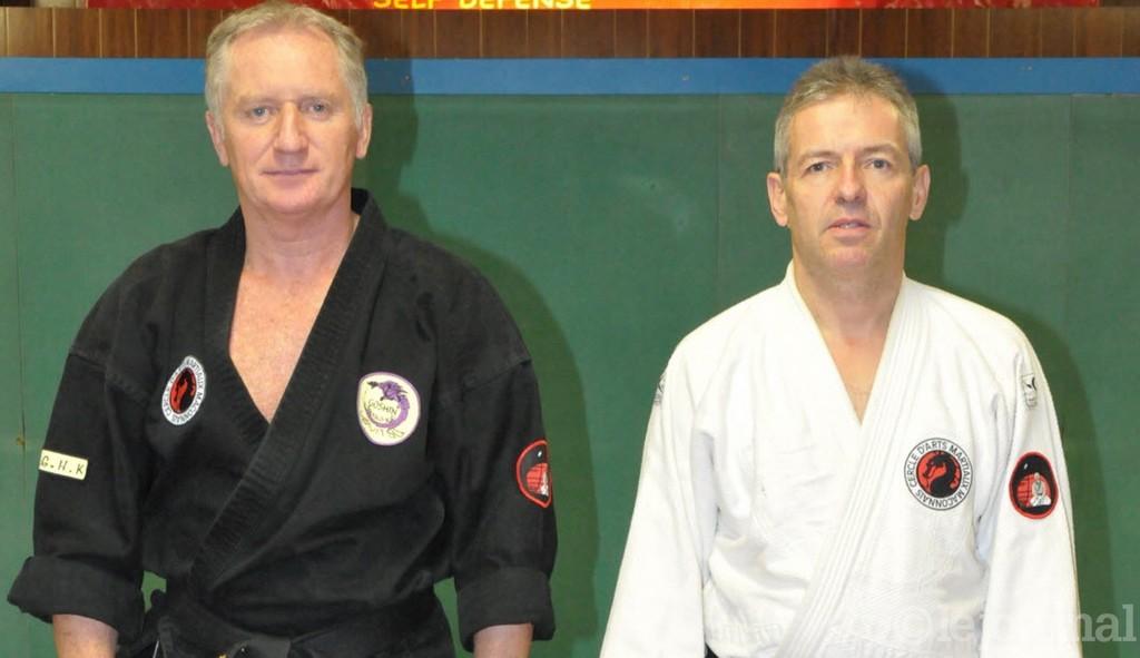 Le président Philippe Schneberger (à g.) et l'instructeur Pascal Gonon (à dr.).