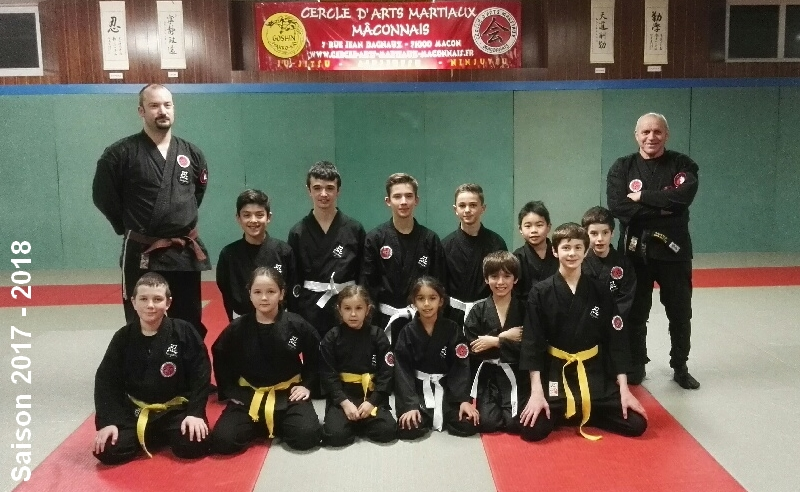 Photo Section Ninjutsu enfant saison 2017/18